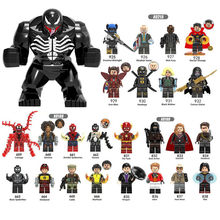 Mini Diy Blocks Marveled Super Heroes Deadpool Thanos Hulk Doctor Strange Ebony Maw venom Supergiant Legoingly Toys(China)