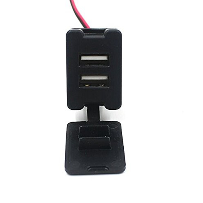 NEW 12-24V Car Dual USB Port Adapter Charger Cell Phone PDA DVR Input For Toyota