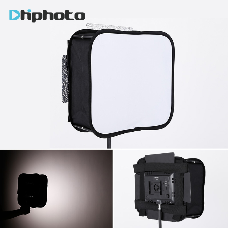 SB600 / SB300 Studio Softbox Diffuser untuk YONGNUO YN600L II YN900 YN300 YN300 III Air Light Video Panel Light Foldable Soft Filter