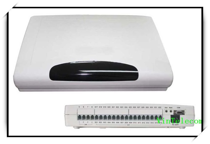 Hohe Qualität Vintelecom Cp416 Telefon Tk-anlage/pbx Centrales Telefonicas Mit 4 Zeilen X 16 Extensions