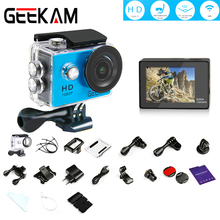 GEEKAM N9 1080P Wifi Action Camera Ultra HD Screen Cam Deportiva 30m Waterproof house 155 Ultra-wide Angle Fisheye Sport