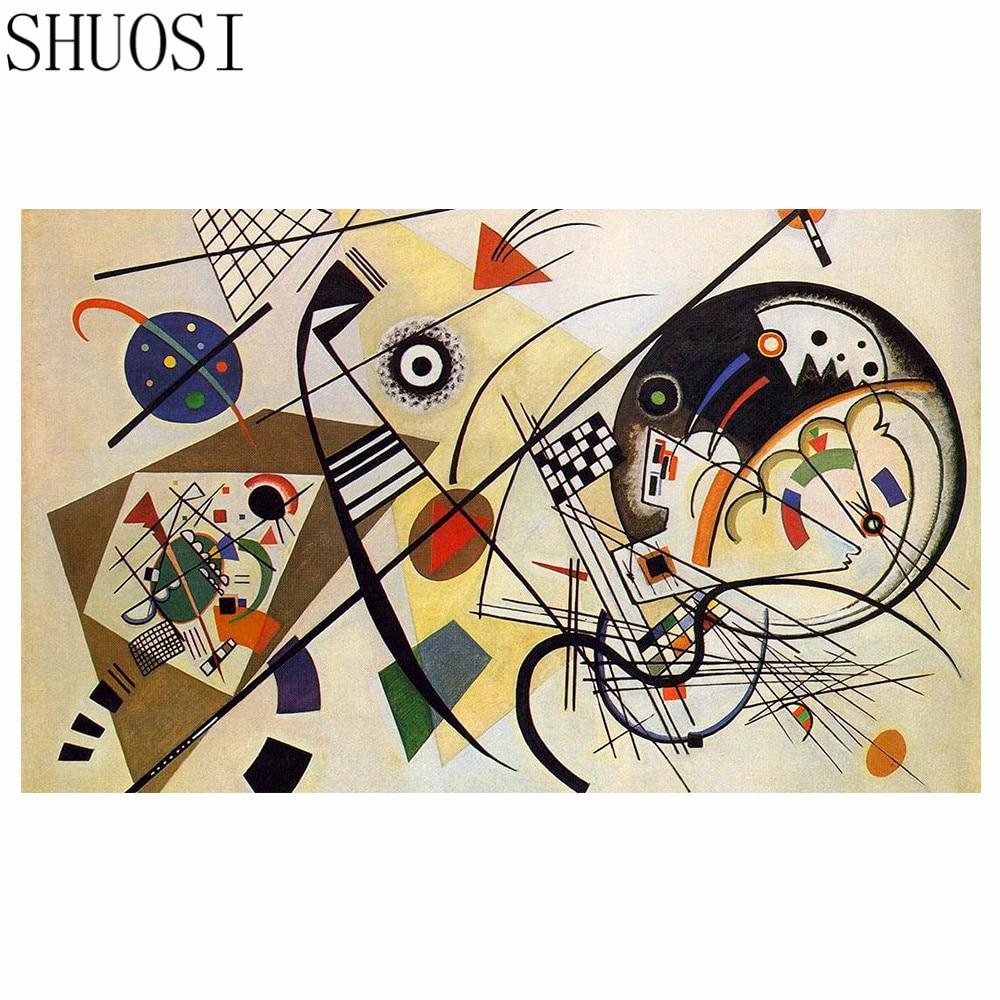 Shuosi diy جولة الحفر الماس اللوحة عبر - الفنون والحرف والخياطة