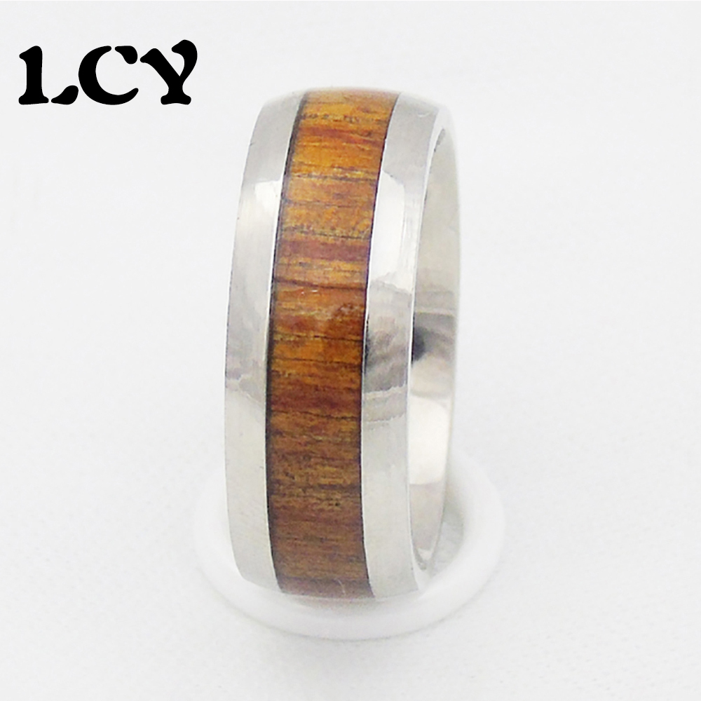 14k solid yellow gold with koa wood inlay wedding ring 7mm gkr koa wedding bands 14K Solid Yellow Gold with Koa Wood Inlay Wedding Ring 7mm Makani Hawaii Hawaiian Heirloom Jewelry Wholesaler and Manufacturer