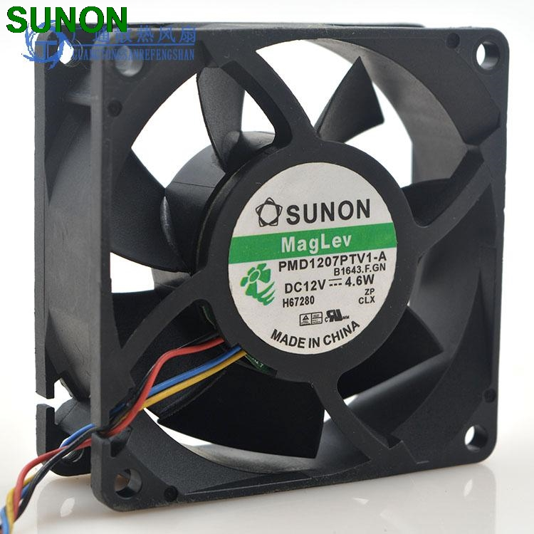 Original Sunon PMD1207PTV1-A 7025 magnetic levitation maintenance bearing large air volume 7CM fan 70x70x25mm original sunon pmd1207ptv1 a 7025 magnetic levitation maintenance bearing large air volume 7cm fan 70x70x25mm