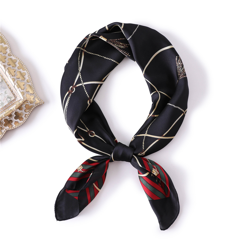 Luxury Brand Silk Scarf Square 2018 Hot Sale Small Size Office Hair Neck Headband Foulard Scarves For Women Hijabs Handkerchief