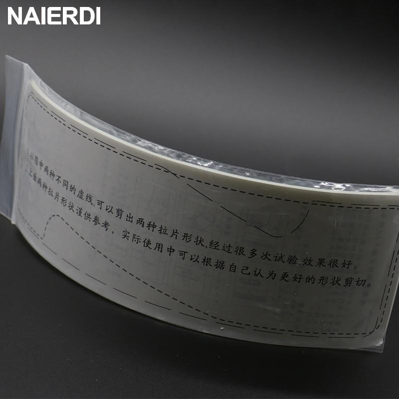 NAIERDI 5PCS Szilárdság műanyag-acél betétlap lakatos - Kézi szerszámok - Fénykép 5
