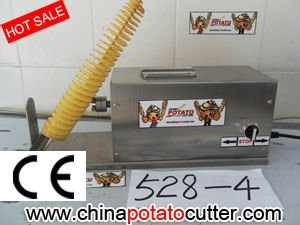 304# Stainless Steel potato string cutter 528E-3 cheap potato slicer machine  discount Spiral Potato Chip Slicer (with counter)
