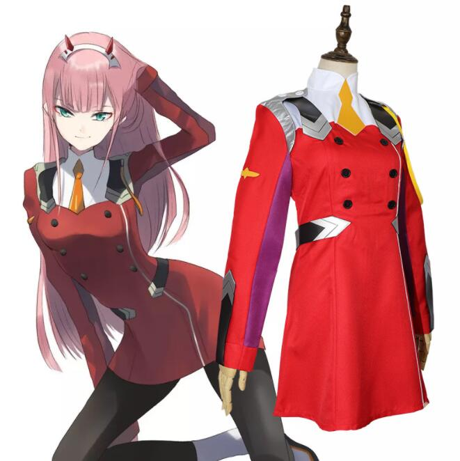 Zero Two Cospplay DARLING in the FRANXX Cosplay Costume Anime DARLING in the FRANXX CODE:002 Costume Zero Two A324