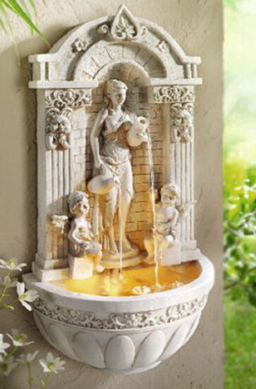Wall Hanging Wall European Angel Water Fountain With Atomizer Home