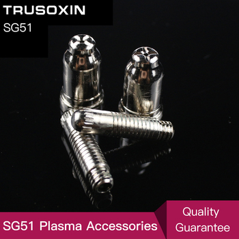 20pcs SG51 Consumables Tips and Electrodes for 60a Inverter DC Air Plasma Cutter Accessories for SG51 Cutting Torch/Gun free shipping 70pcs p80 panasonic air plasma cutter torch consumables plasma tips nozzles 60 80 100amp plasma electrodes