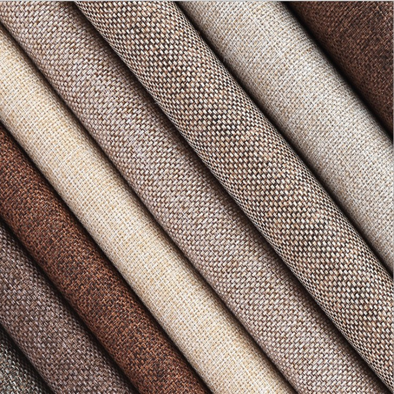 """Coated Linen Fabric Sofa Cushion Fabric DIY Craft Sewing Cloth Outdoor Linen Blend Fabric Upholstery 59"""" Wide"""