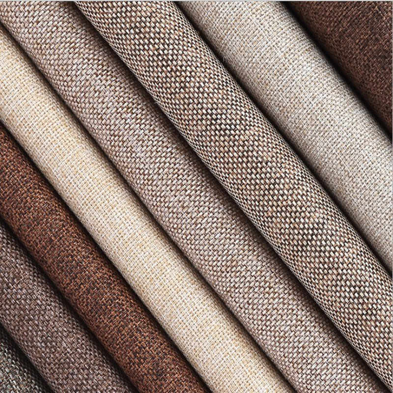 "Coated Linen Fabric Sofa Cushion fabric DIY Craft Sewing Cloth Outdoor Linen Blend Fabric Upholstery 59"" wide"