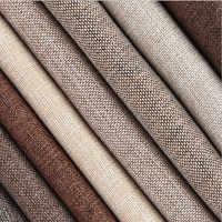 Tissu de lin enduit canapé coussin tissu bricolage artisanat couture tissu extérieur mélange de lin tissu d'ameublement 59 de large