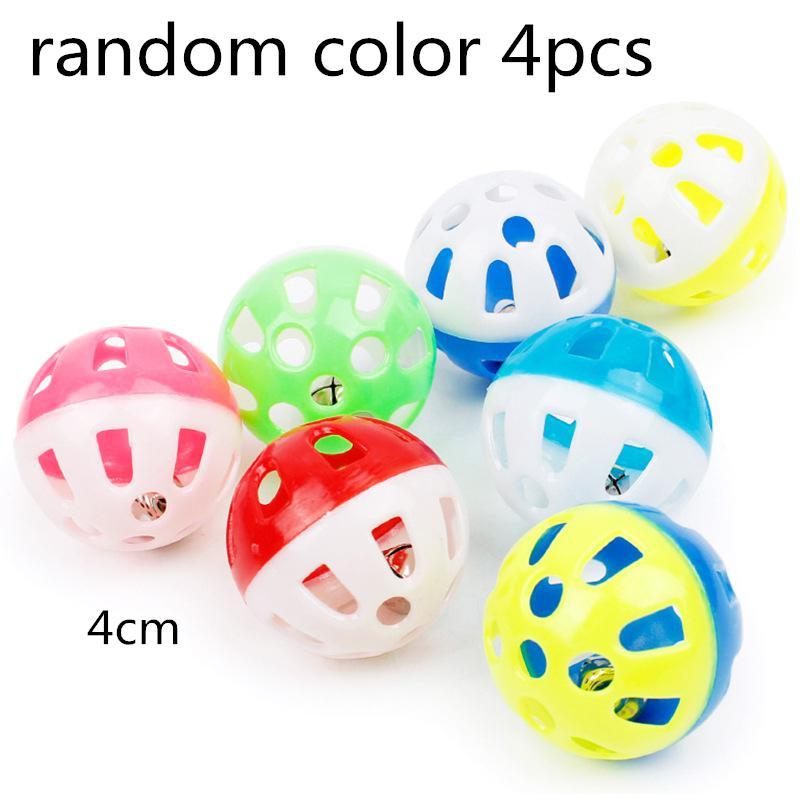 Игрушка-попугай для домашних животных, птица, полый колокольчик, шар для попугаев, кокаин, жевательные игрушки в клетке, 23 - Цвет: 4pcs