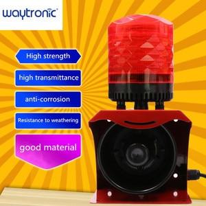 Image 2 - 12V 24V 220V Industrial Horn Siren Emergency Sound and Light Alarm Red LED Flashing Strobe Warning Light with Remote Control