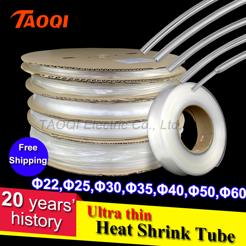Free Shipping 1Meter 2:1 Transparent Clear Heat Shrink