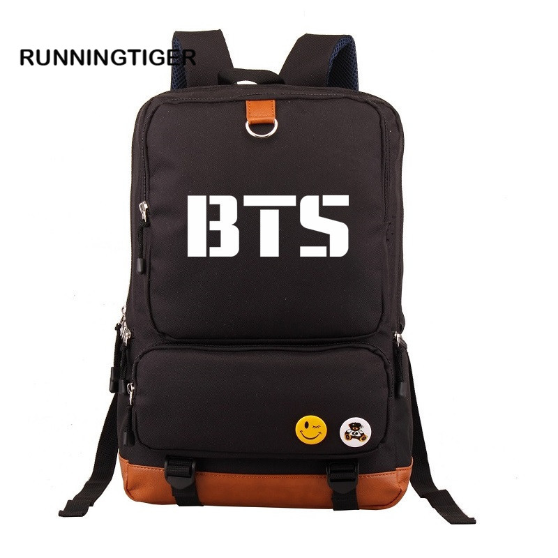 Women Backpack Kpop BTS Bangtan Boys Girls New School bag Backpacks Student Schoolbag Shoulder Bag Fans Collection Space