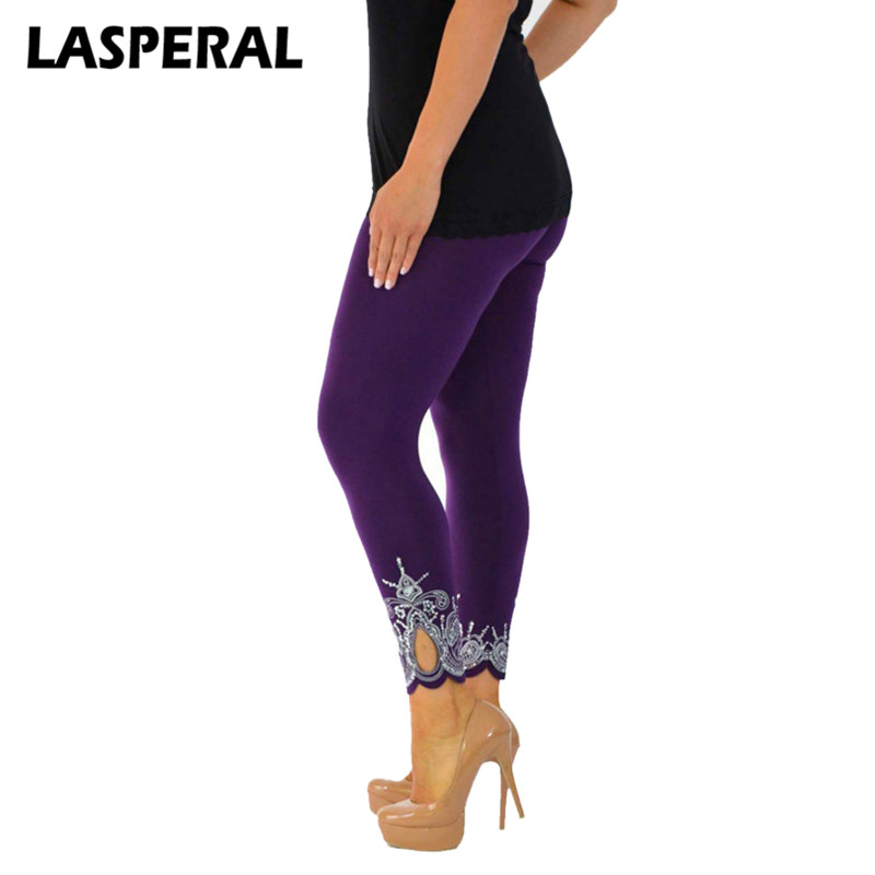 LASPERAL Women Autumn Leggings Fashion Skinny Leggins Pant 2017 Girls Solid Hollow Out Capris Underpants Female Z30