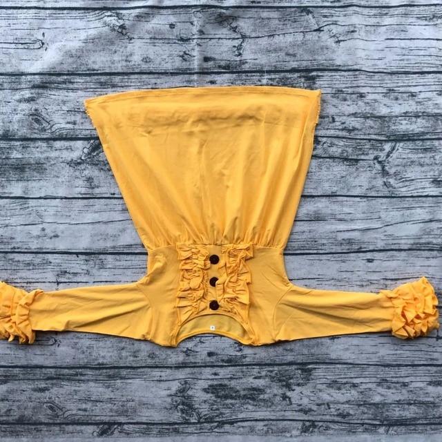 Neueste kinder kleider designs deer gedruckt langarm rüschen kleid ...
