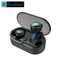 Samload Business Bluetooth Earphones Wireless 3D Hifi Stereo Earbuds Headset And Power Bank With Microphone Handsfree