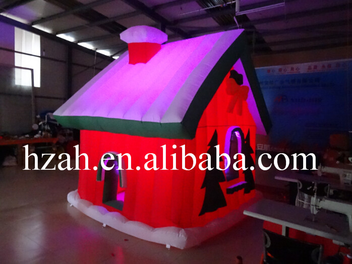 3*3m Inflatable Christmas House with LED Light inflatable cartoon customized advertising giant christmas inflatable santa claus for christmas outdoor decoration