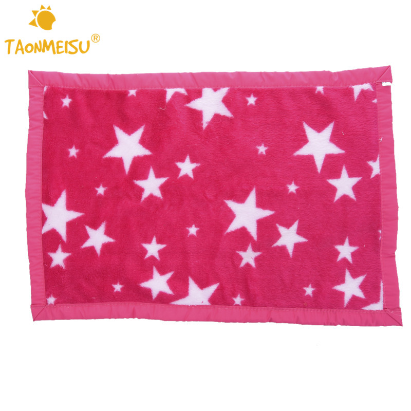 Pet Dog Blanket Soft Warm Cushion Bed Star Print Coral Fleece Mat 3 Size 2 colors 1pcs ...