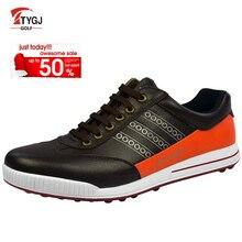 TTYGJ Golf Chaussures Hommes En Cuir Imperméable À L'eau Lumineux Chaussures Zapatos De Mujer Espadrilles Sur une Plate-Forme De Golf Hombre Livraison Gratuite