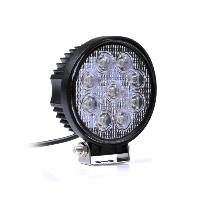 LED Work Light 12V 24V IP67 Spotlight Fog Light Off Road ATV Tractor Train Bus Boat Floodlight 4x4 ATV UTV Work Light 27W