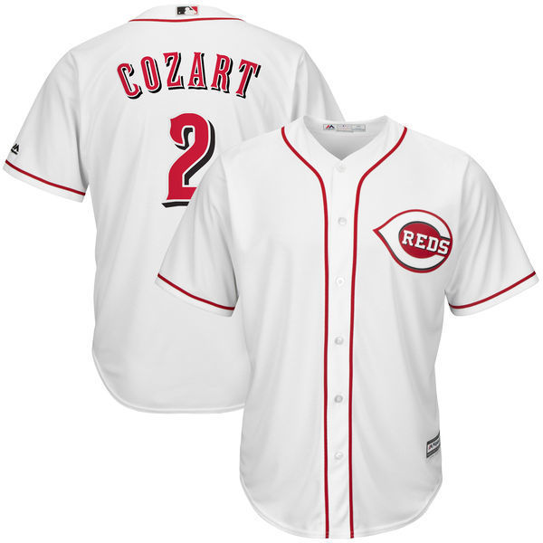 MLB Mens Cincinnati Reds Zack Cozart Baseball White Home Cool Base Jersey