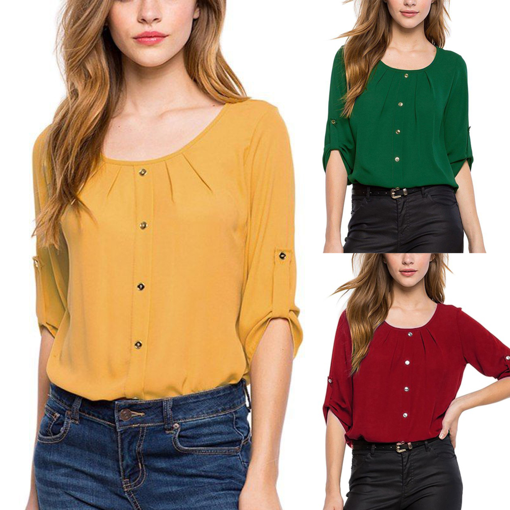 2018 Summer Cotton Linen Women Blouse Chiffon Short Casual Shirts Black Red Yellow White Female Top Ladies Clothes Plus Size 5xl Fine Quality Back To Search Resultswomen's Clothing