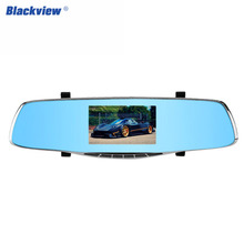 Buy online Blackview A206B Car Video Recorder 4.3 Inch LCD Screen Anti-Glare Blue Mirror dual lens camera Rear View Dashcam Car Camera Hot