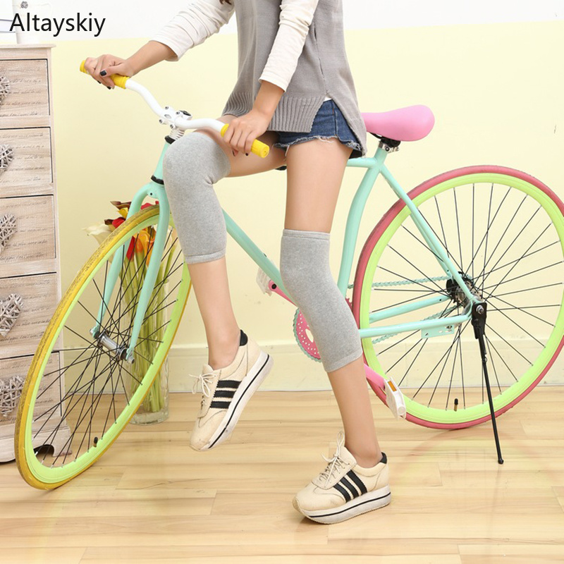 Knee Sleeve Women Warm Soft  All-match Solid Simple Womens 2020 High Quality Elasticity Cotton Slim Comfortable Trendy Leisure