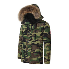 2017 waterproof Brand New Mens Goose Down Jacket Warm Winter CHATEAU PARKA Big Removable Raccoon fur