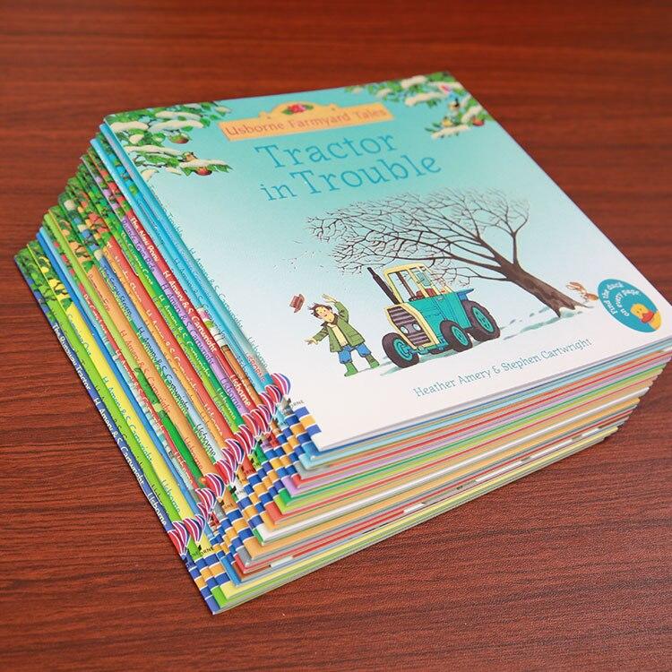 Купить с кэшбэком 20Books/Set 15x15cm kids Usborne Picture Books Children Baby famous Story English Child Book Farmyard Tales Story Eary education