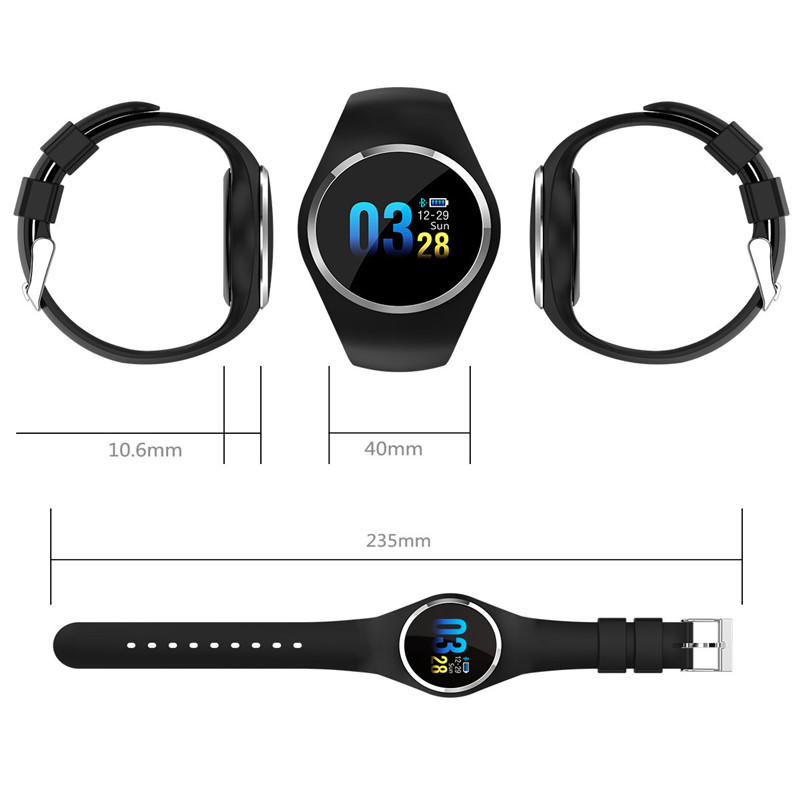 Купить с кэшбэком Q1 Bluetooth Smart Watch Men Women Stainless Steel Waterproof Wearable Device Smartwatch Bracelet for xiaomi for iphone