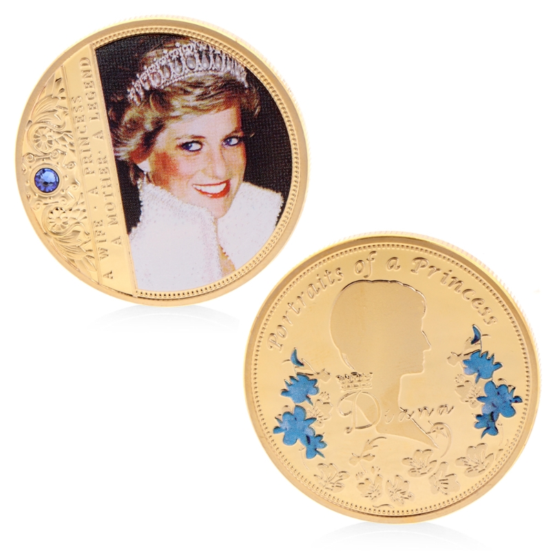 2018  Diana Commemorative Coin Copper Collection Gift Souvenior Memory With Zinc Alloy