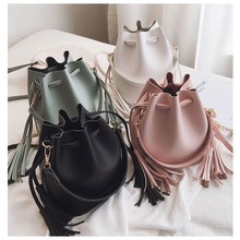 New Designer Bucket Bag Pu Leather Handbags Crossbody Bags For Women Messenger Bag Tassel Composite Bag