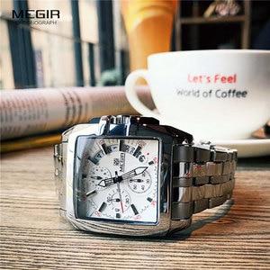 Image 3 - MEGIR Fashion Mens Watches Top Brand Luxury Quartz Watch Men Steel Date Waterproof Sport Watch Relogio Masculino