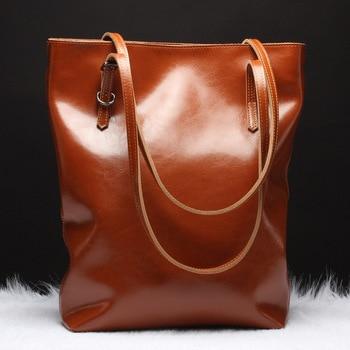 Genuine Leather Women Handbags Messenger Bag Large Shoulder Crossbody Bags for Women Designer Large Capacity Tote Bag