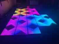Светодио дный светодиодная плитка бесплатная доставка бар DJ сценический interactive15x15 пиксель танцпол ярче Свадебный цифровой светодио дный ин