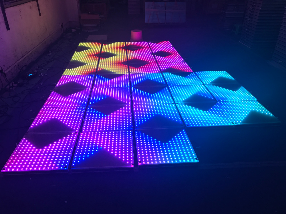 LED tile Free delivery bar DJ stage interactive15x15 pixel color brighter many wedding d ...