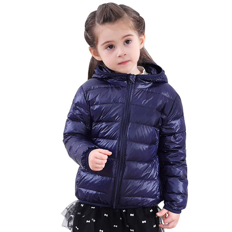Girls Hooded   Down     Coat   Long Sleeve Children's   Down   Jacket 90 % Warm Clothes Men's and Women's Light and Thin   Down   Jacket B-9610