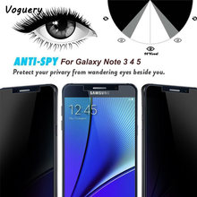 Voor Note 5 4 3 Privacy Gehard Glas LCD Anti-Spy Screen Protector Film Screen Guard Cover Shield voor Samsung Galaxy Note 4 5 3(China)