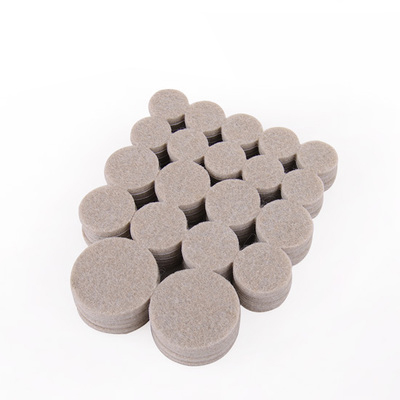 Round Felt Pads Set Table Chair Sofa Furniture Liance Protection Cushion Gasket Floor Abrasion Protector Guards