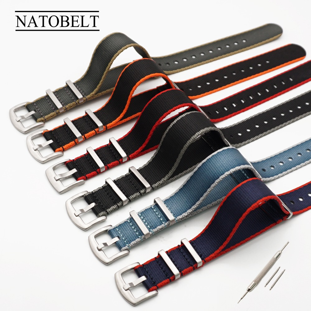 High Quality 20MM 22MM Seatbelt Watch Band Stainless Steel Buckle Nato StrapHigh Quality 20MM 22MM Seatbelt Watch Band Stainless Steel Buckle Nato Strap