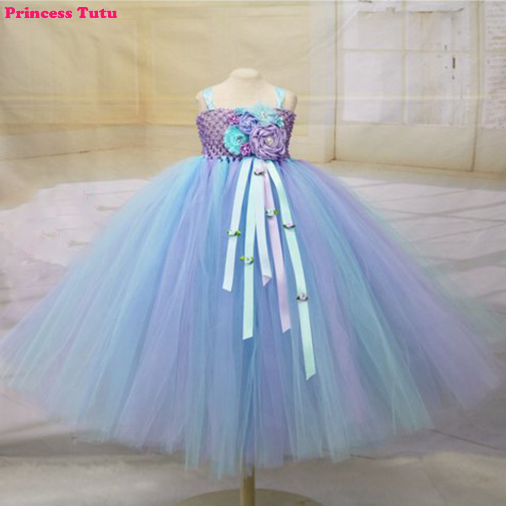 Us 20 1 9 Off Pageant Flower Girl Tutu Dress Customized Princess Baby Girl Mermaid Birthday Party Dresses Child Under The Sea Costume In Dresses