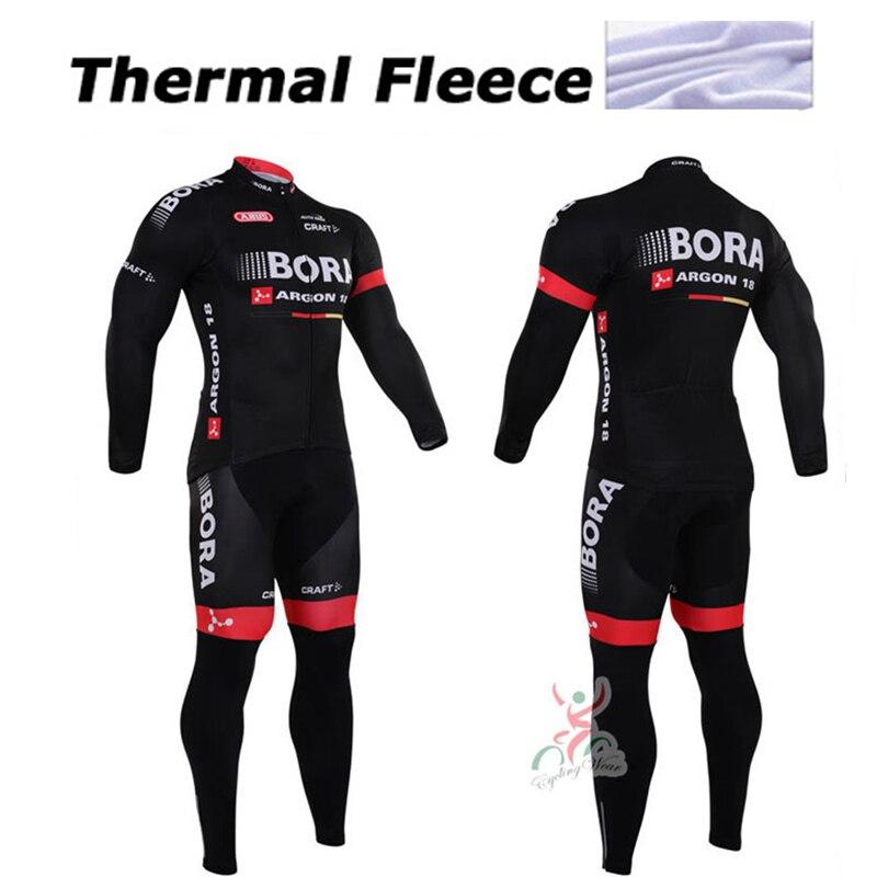 Цена за Зимний велоспорт clothing Бора Аргона 18 зимняя термальная велоспорт джерси с длинным руно майо ropa ciclismo зима велоспорт джерси