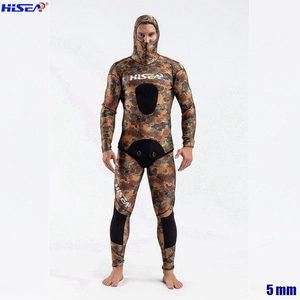 Image 4 - Men Professional 5mm 7mm for Taiwan YAMAMOTO Neoprene Spearfishing Suits Available Hooded Sealed two piece Diving Dry Wetsuits