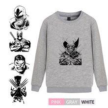Marvel Comic  Wolf X-Men Hulk Deadpool Venom Trendy O-NECK Cotton Sweatshirts leisure Leisure Unisex Sweatsuit A193291