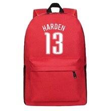 James Harden Canvas Backpack Teenagers Basket Ball Backpacks Boy Girl School Bag For Student Men Women RuckSack Mochila Escolar